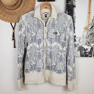 The North Face Cotton Wool Nylon Blend Cardigan M